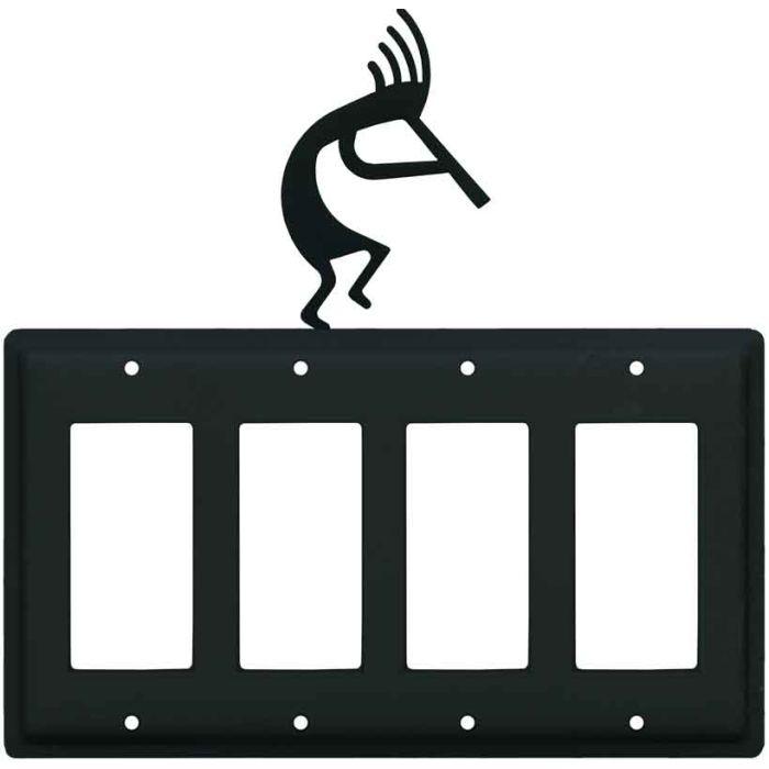 Kokopelli 4 Rocker GFCI Decorator Switch Plates