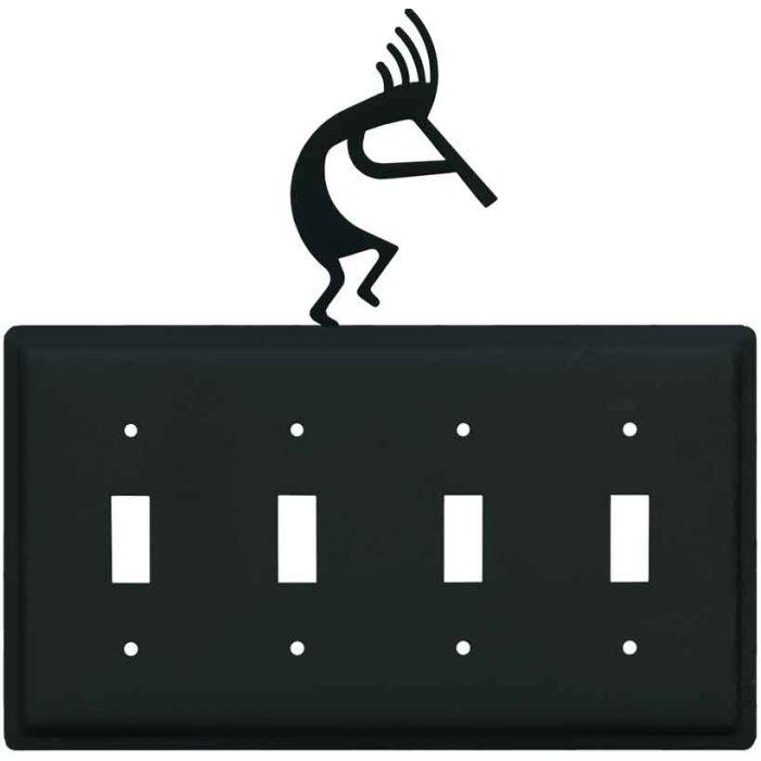 Kokopelli Quad 4 Toggle Light Switch Covers