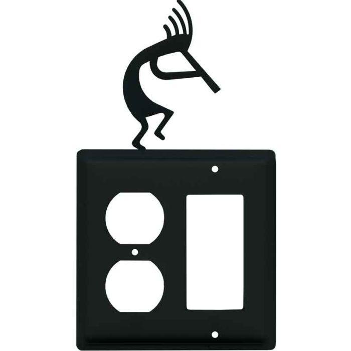 Kokopelli1-Duplex / 1 Decorator Rocker - Combination Switch Cover