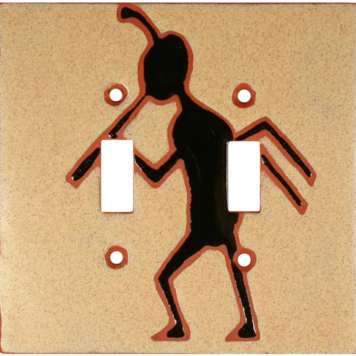 Kokopelli March Double 2 Toggle Switch Plate Covers