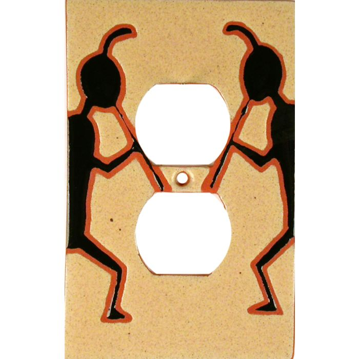 Kokopelli March 1 Gang Duplex Outlet Cover Wall Plate