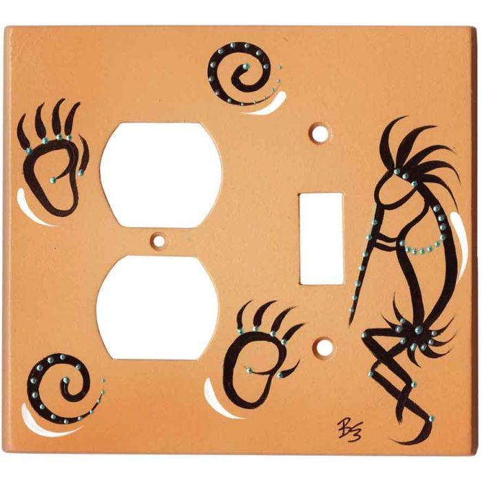 Kokopelli on Sand 1-Duplex / 1-Toggle - Combination Wall Plates