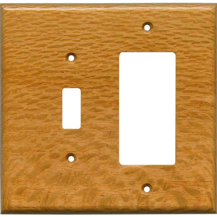 Lacewood Satin Lacquer - Combination 1 Toggle/Rocker Switch Covers
