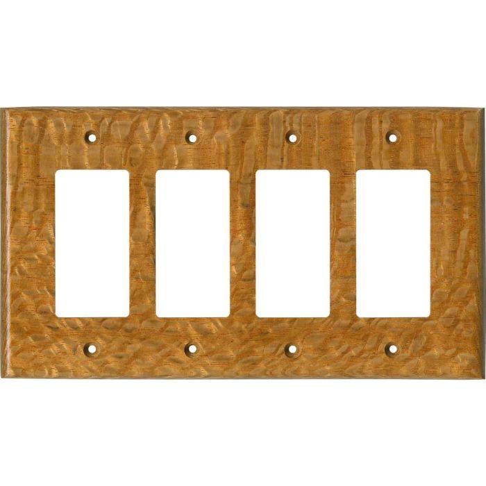 Lacewood Satin Lacquer - 4 Rocker GFCI Decora Switch Plates