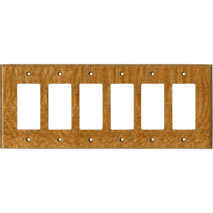Lacewood Satin Lacquer- 6 GFI Rocker Decora