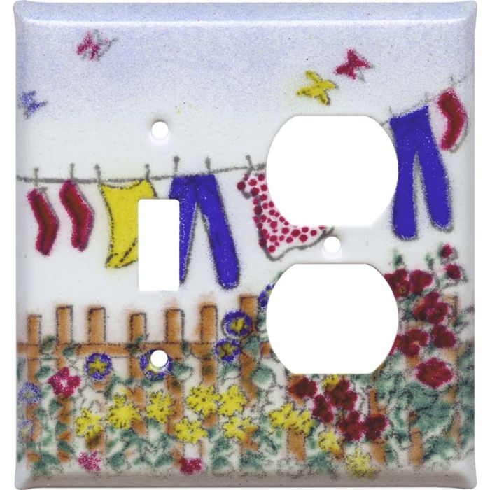 Laundry Combination 1 Toggle / Outlet Cover Plates