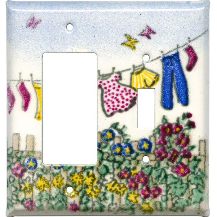 Laundry 1-Gang GFCI Decorator Rocker Switch Plate Cover
