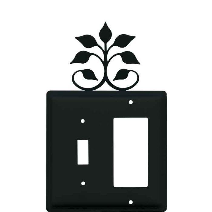 Leaf Fan Combination 1 Toggle / Rocker GFCI Switch Covers