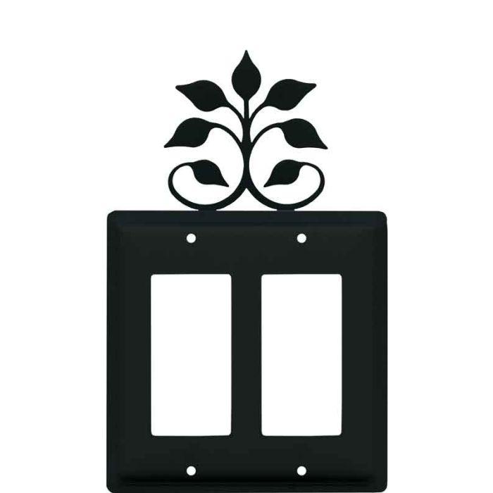 Leaf Fan 2 Gang Double GFCI Rocker Decorator Wallplates