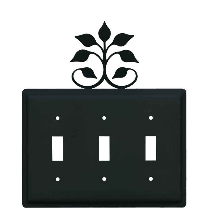 Leaf Fan Triple 3 Toggle Light Switch Covers