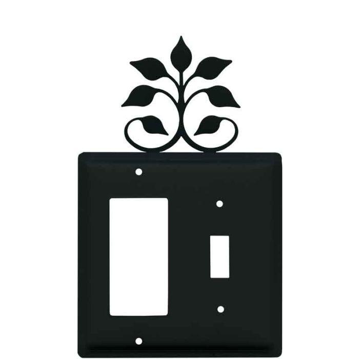 Leaf Fan 1-Gang GFCI Decorator Rocker Switch Plate Cover