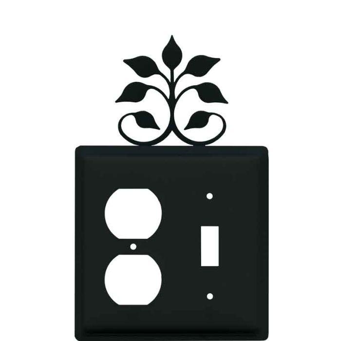 Leaf Fan 1-Duplex / 1-Toggle - Combination Wall Plates