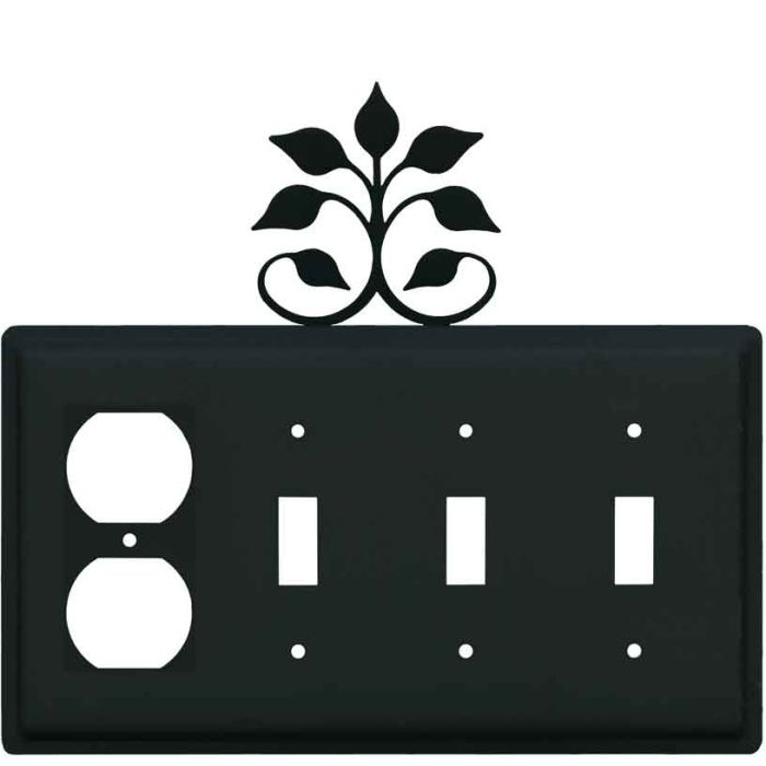 Leaf Fan 1 - Gang Duplex Outlet Cover Wall Plate