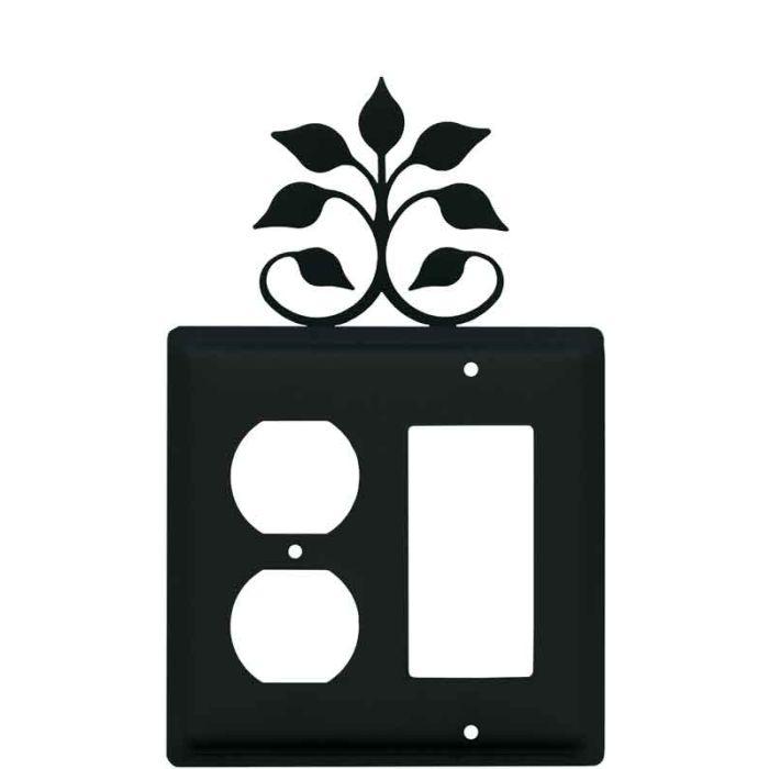 Leaf Fan 1-Duplex / 1 Decorator Rocker - Combination Switch Cover