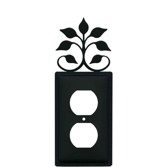 Leaf Fan 1 Gang Duplex Outlet Cover Wall Plate