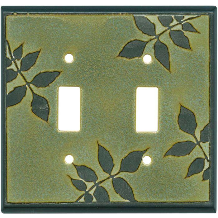Leaf Silhouette Green Ceramic