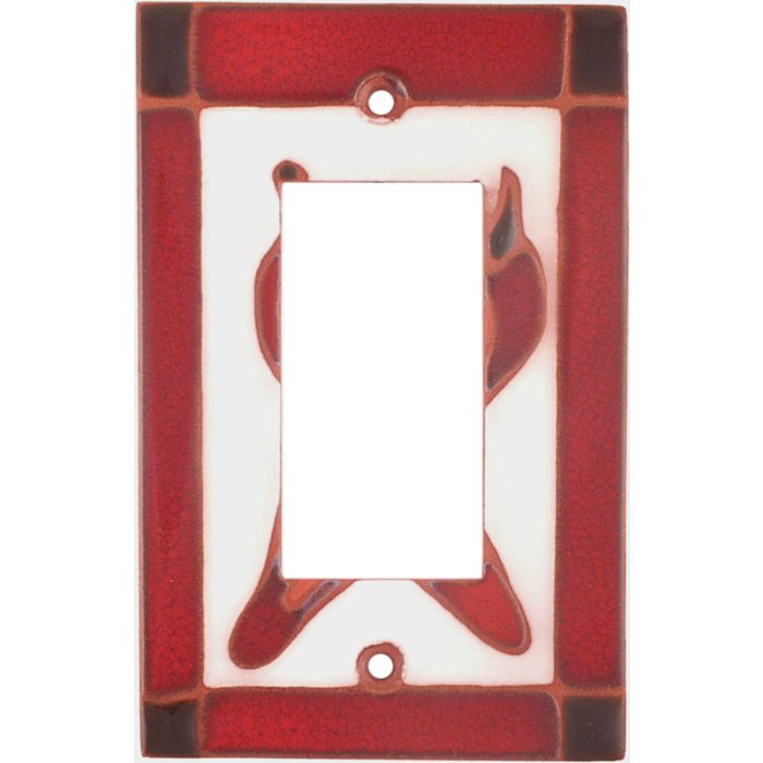 Leaning Chilis Single 1 Gang GFCI Rocker Decora Switch Plate Cover