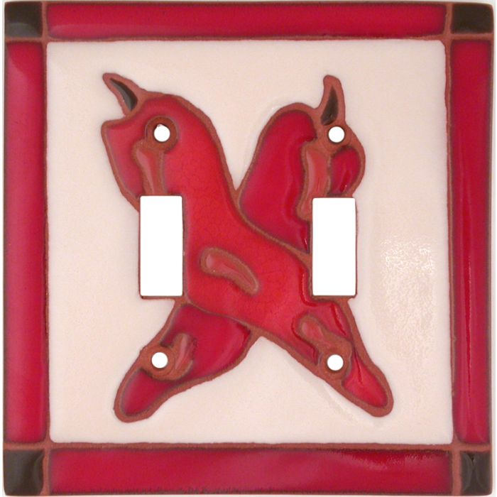 Leaning Chilis Double 2 Toggle Switch Plate Covers