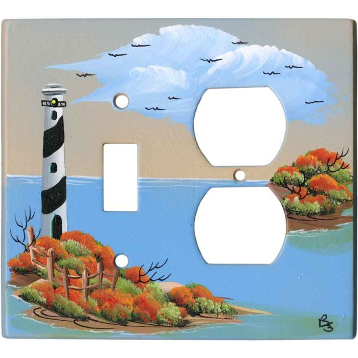 Lighthouse Combination 1 Toggle / Outlet Cover Plates