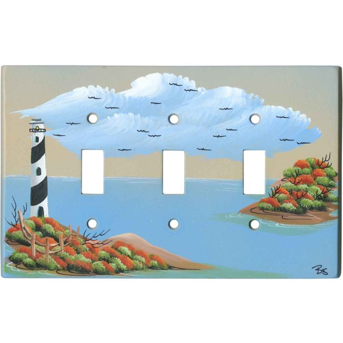 Lighthouse Triple 3 Toggle Light Switch Covers
