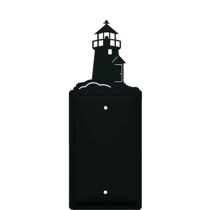 Lighthouse Black 1 Gang Blank Wall Plates