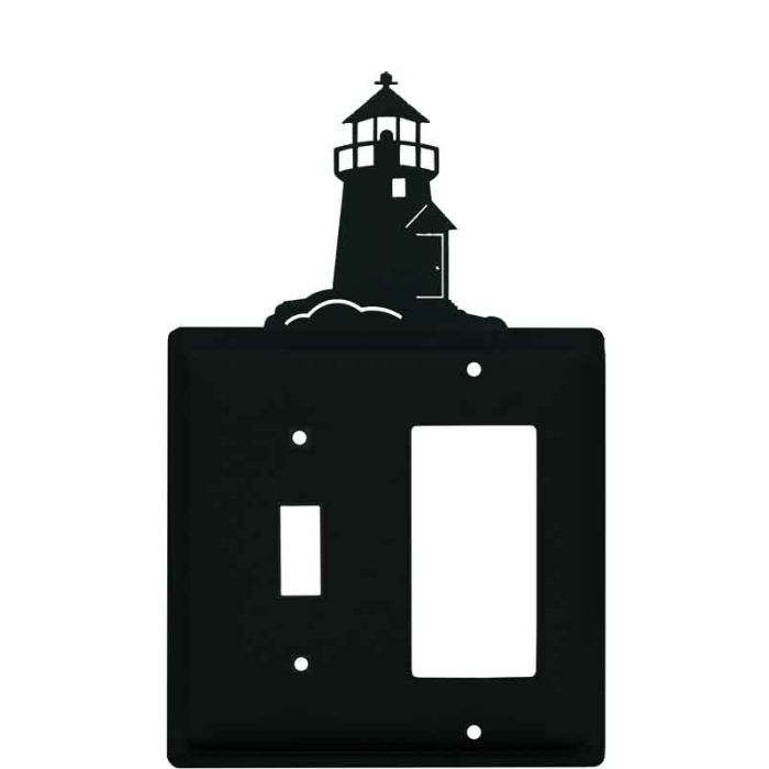 Lighthouse Black Combination 1 Toggle / Rocker GFCI Switch Covers