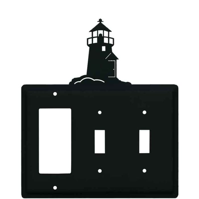 Lighthouse Black 1-Gang GFCI Decorator Rocker Switch Plate Cover