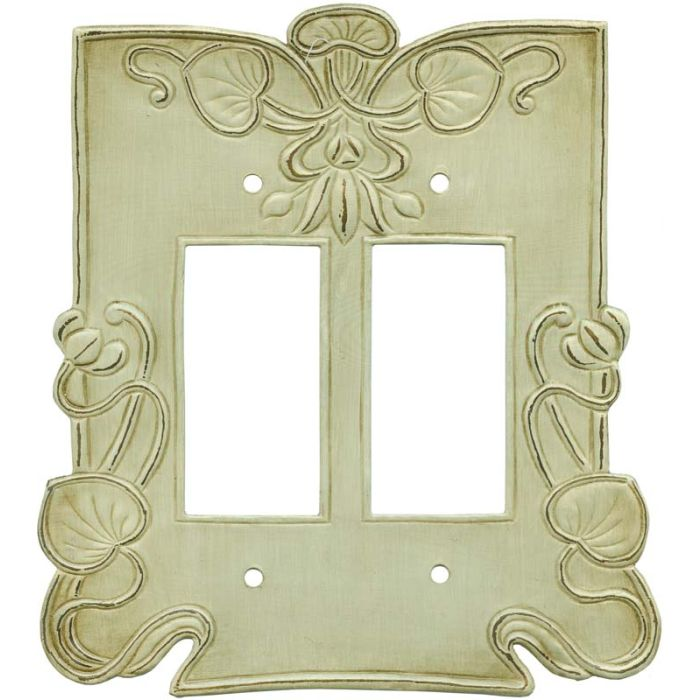 Lily Pads2 Gang Decorator / GFCI Rocker Wall Plate Cover