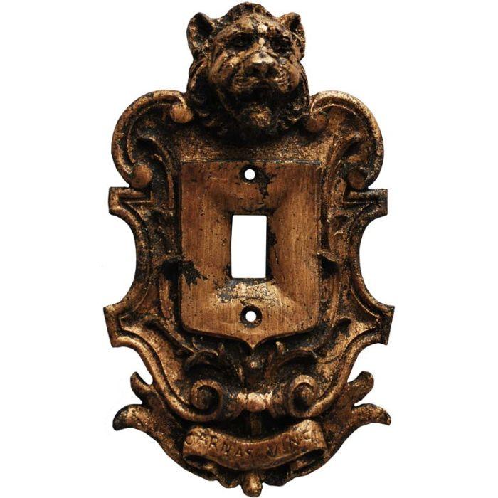 Lion Renaissance Single 1 Toggle Light Switch Plates