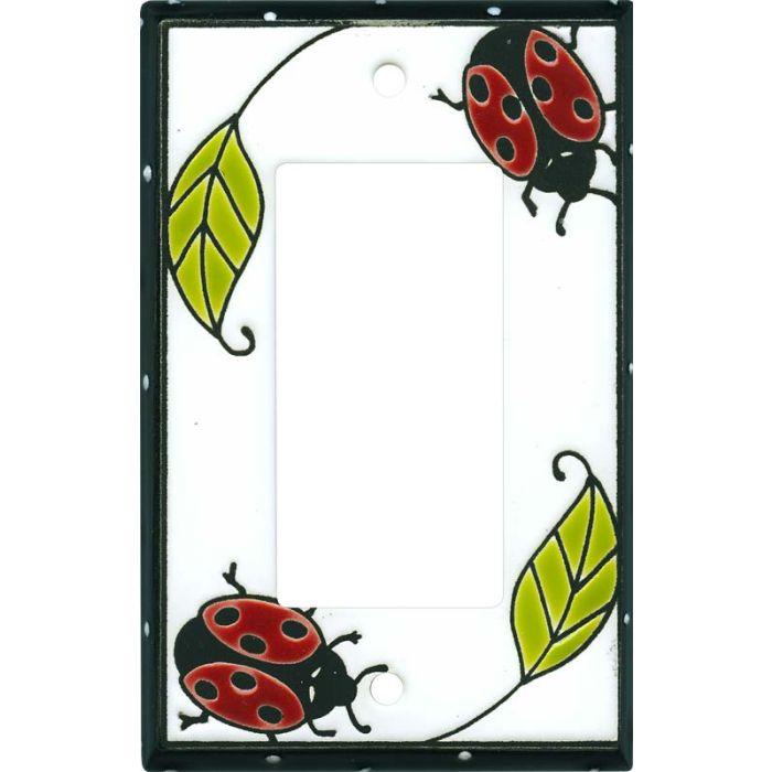 Little Ladybug Ceramic Single 1 Gang GFCI Rocker Decora Switch Plate Cover