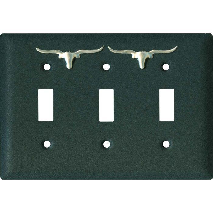 Longhorn Black3 - Toggle Switch Plates