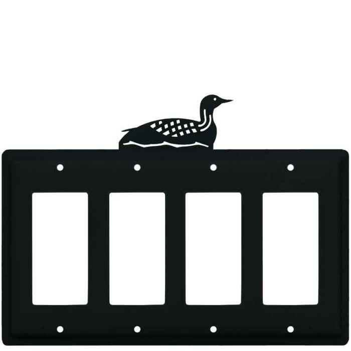 Loon 4 Rocker GFCI Decorator Switch Plates