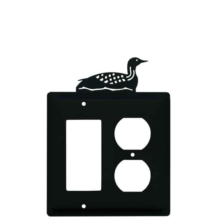 Loon Combination GFCI Rocker / Duplex Outlet Wall Plates