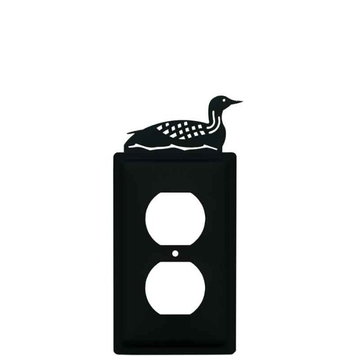 Loon 1 Gang Duplex Outlet Cover Wall Plate