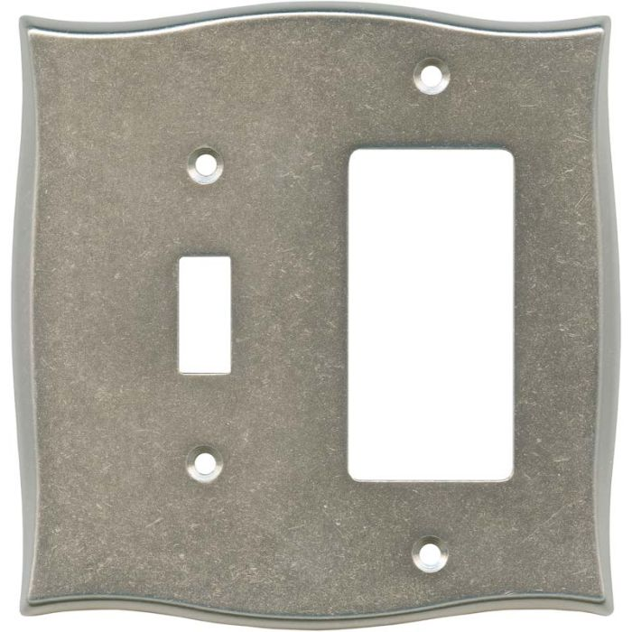 Brainerd Lylah Vintage Nickel Combination 1 Toggle / Rocker GFCI Switch Covers