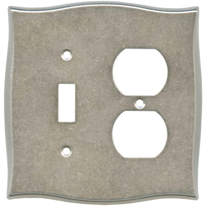 Brainerd Lylah Vintage Nickel Combination 1 Toggle / Outlet Cover Plates