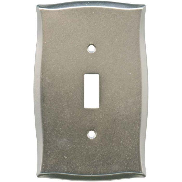 Brainerd Lylah Vintage Nickel Single 1 Toggle Light Switch Plates