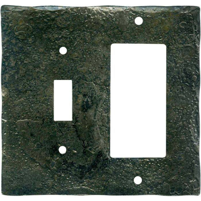 Forged Metal Combination 1 Toggle / Rocker GFCI Switch Covers