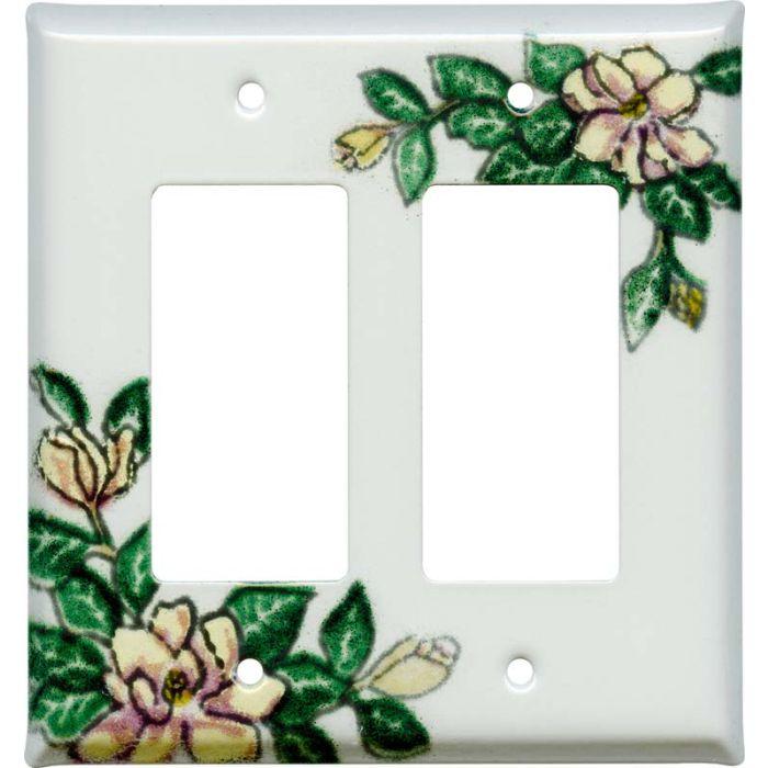 Magnolia 2 Gang Decorator / GFCI Rocker Wall Plate Cover
