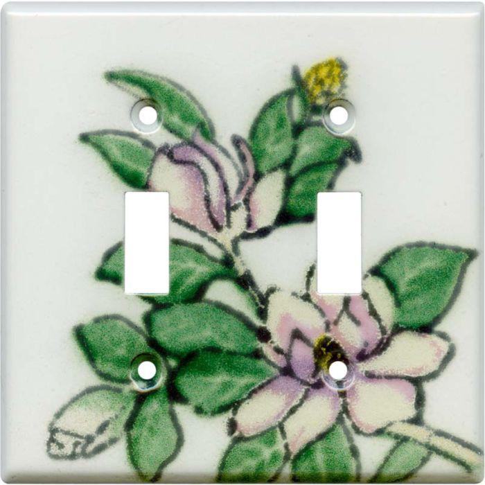 Magnolia 2 Toggle Switch Plates
