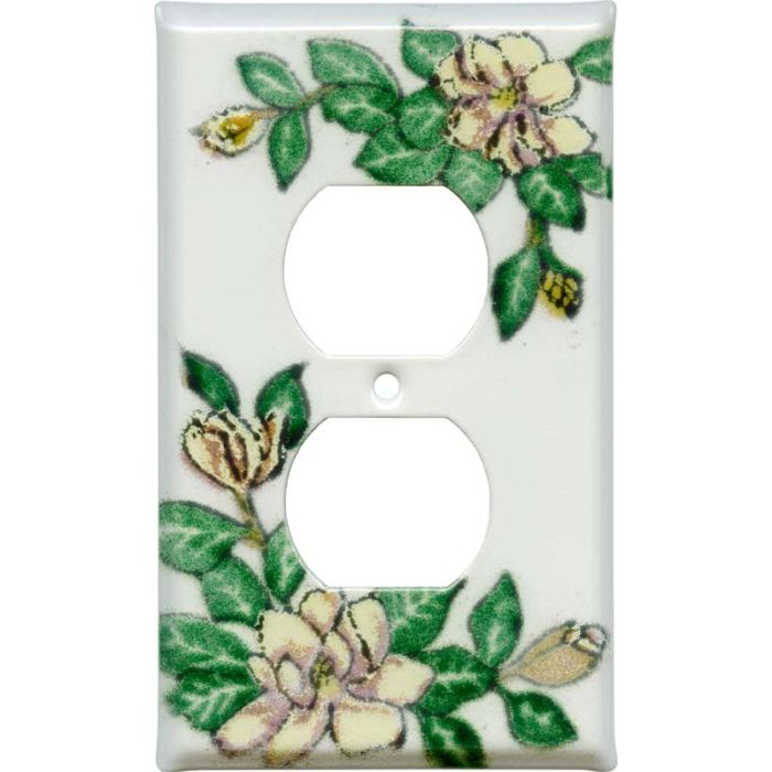 Magnolia 1 - Gang Duplex Outlet Cover Wall Plate