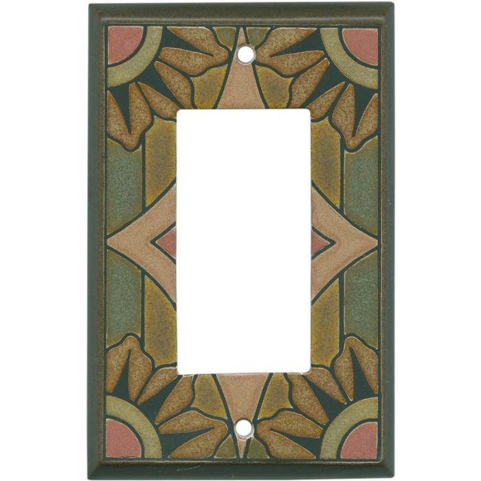 Malibu Ceramic 1-Gang GFCI Decorator Rocker Switch Plate Cover
