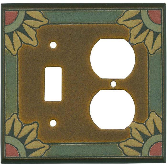 Malibu Ceramic Combination 1 Toggle / Outlet Cover Plates