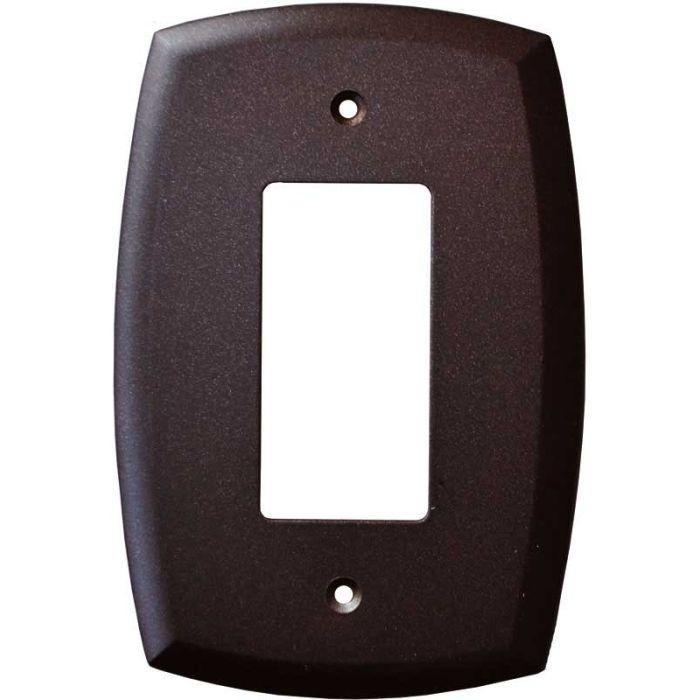 Mandara Cocoa Bronze Single 1 Gang GFCI Rocker Decora Switch Plate Cover