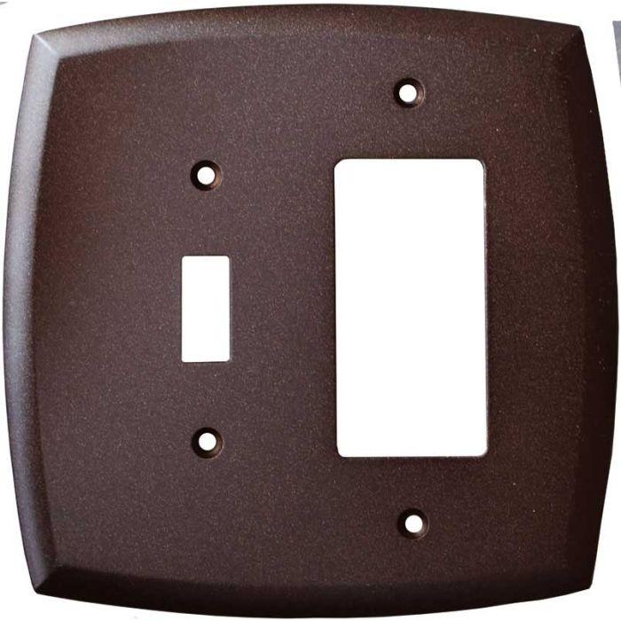 Mandara Cocoa Bronze Combination 1 Toggle / Rocker GFCI Switch Covers
