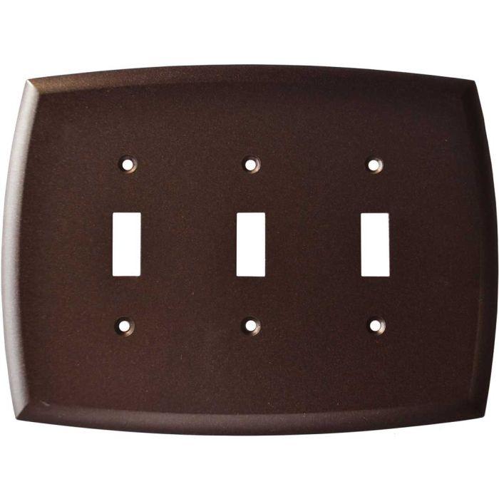 Mandara Cocoa Bronze Triple 3 Toggle Light Switch Covers