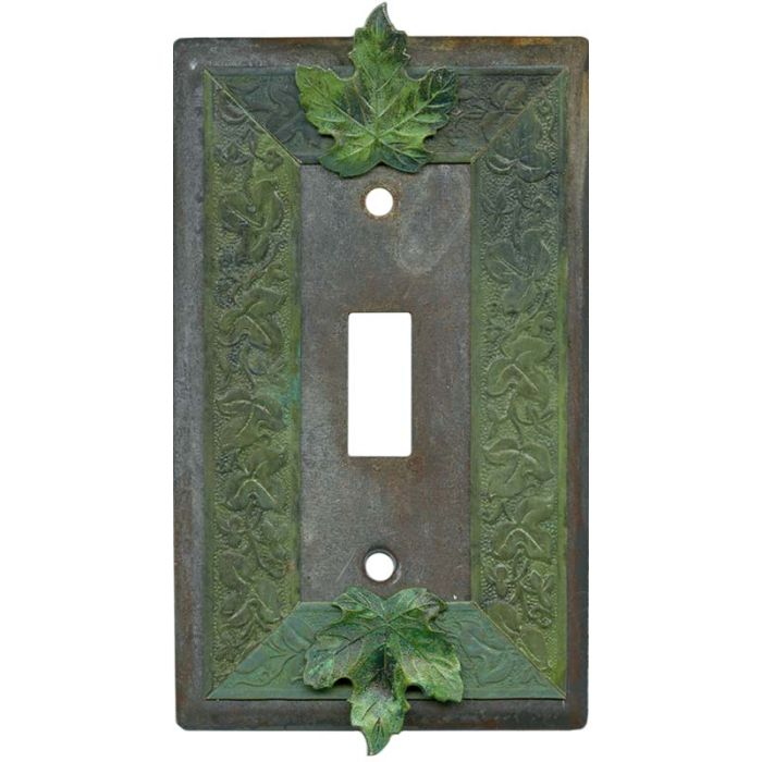 Maple Leaf Single 1 Toggle Light Switch Plates