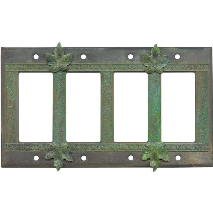 Maple Leaf 4 Rocker GFCI Decorator Switch Plates