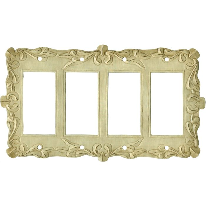 Mariah 4 Rocker GFCI Decorator Switch Plates
