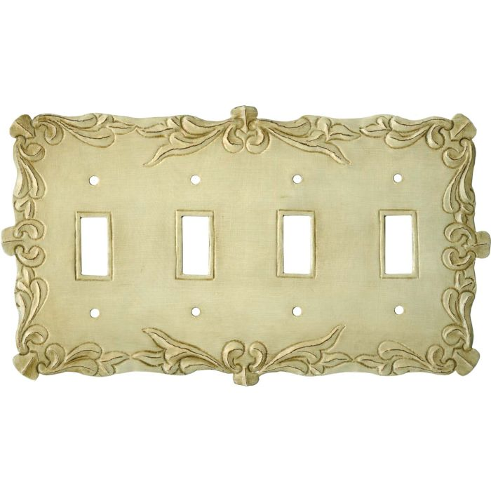 Mariah Quad 4 Toggle Light Switch Covers
